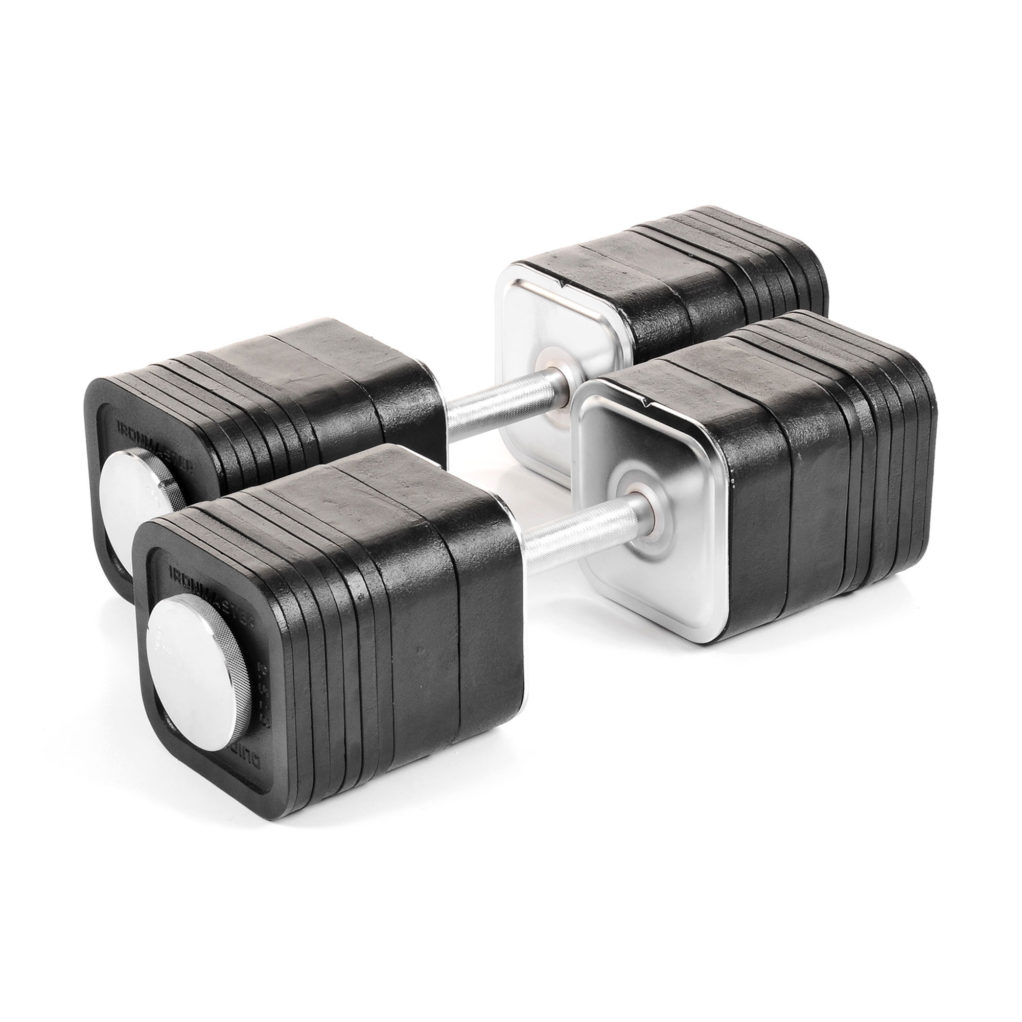 Ironmaster Adjustable Dumbbells Used: Quick-Lock Custom 165 Lbs (74.8 Kg) Add-on Kit