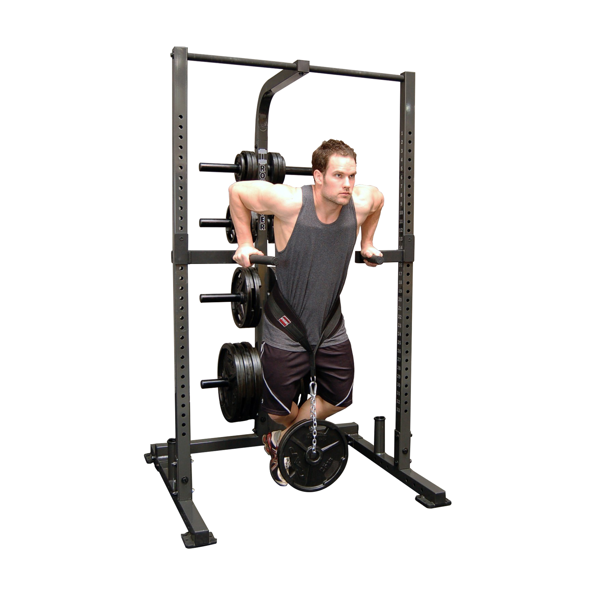 IronmasterUK IM1500 dips with additional weights