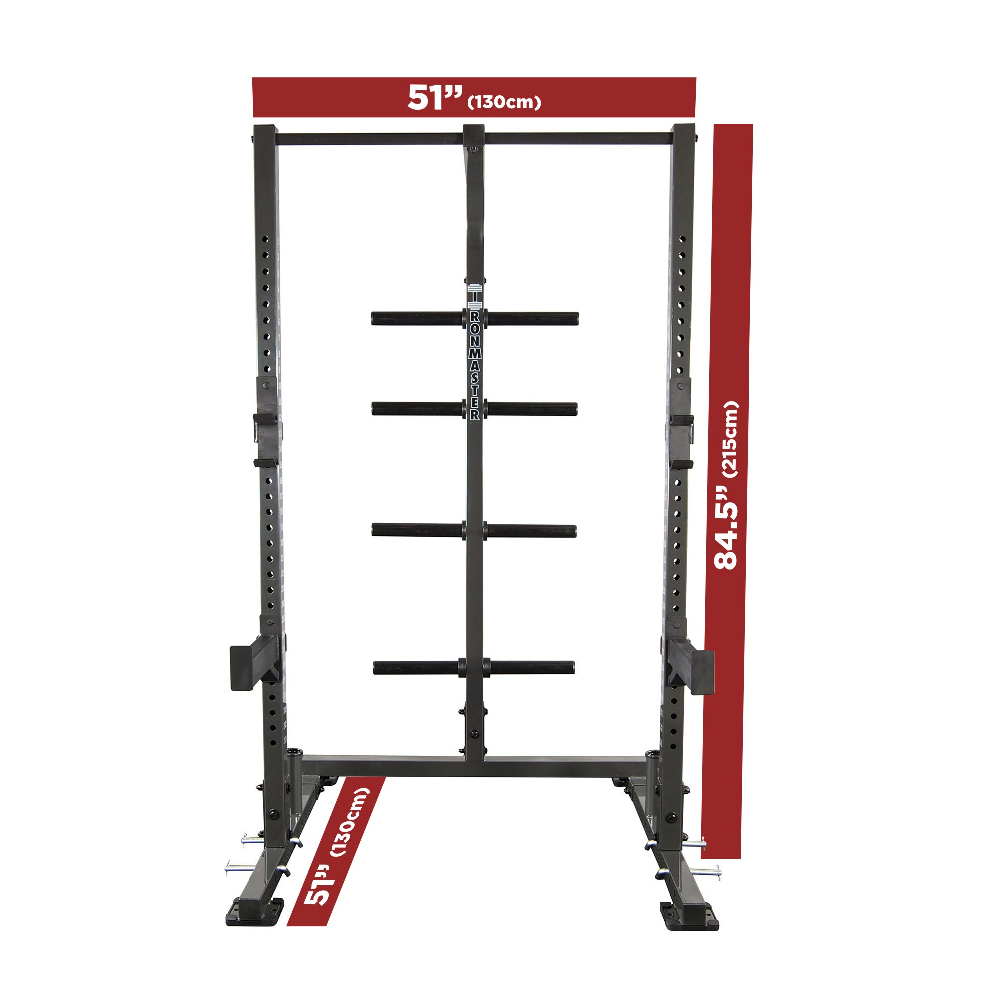 Im1500 half rack weight lifting system free olympic for A squat rack