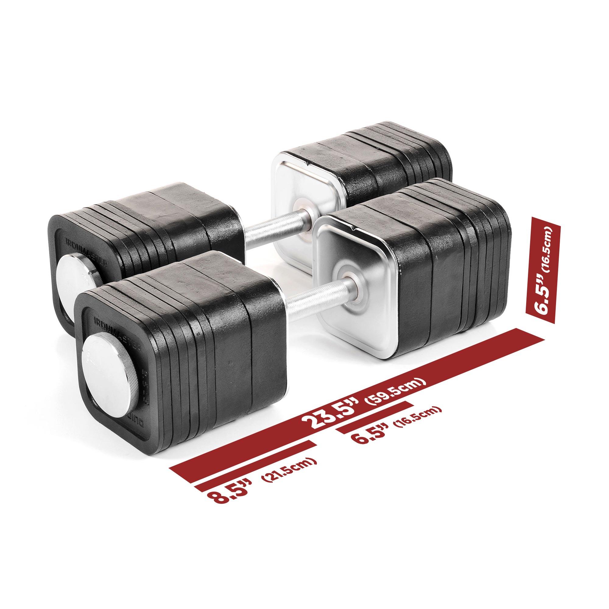 IronmasterUK QL Dumbbells 165lbs specifications