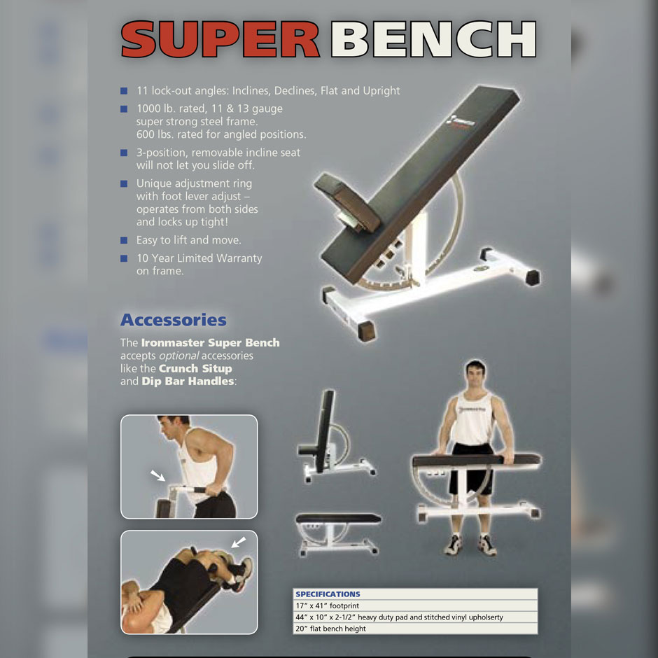 Ironmaster Super Bench is launched