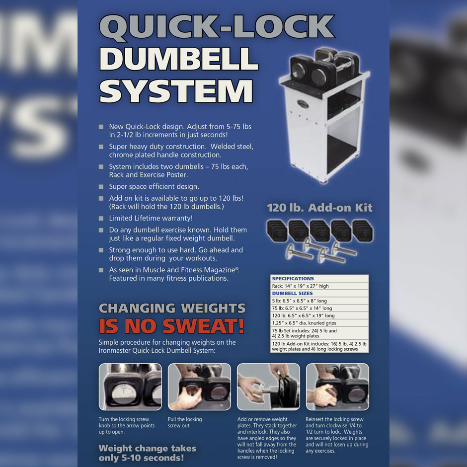 Ironmaster Quick-Lock Adjustable Dumbbells launched