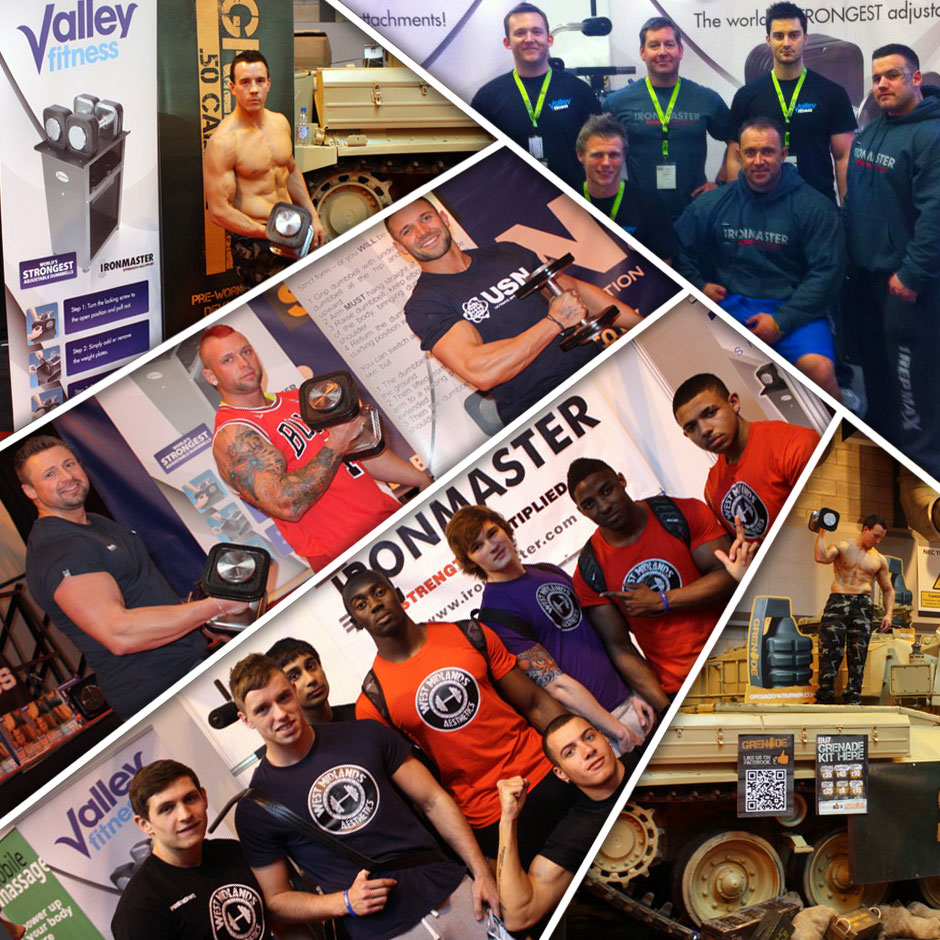 Valley Fitness exhibit at FIBO, Essen, Germany and BodyPower, Birmingham, UK